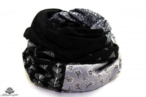 Schal schwarz weiss Lieblingsmanufaktur
