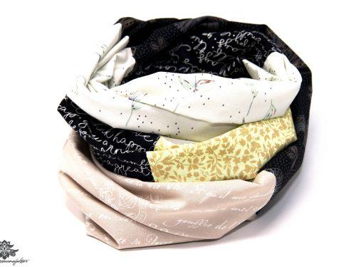 Schal schwarz weiss beige