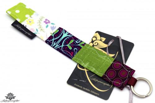 Schlüsselanhänger lila grün
