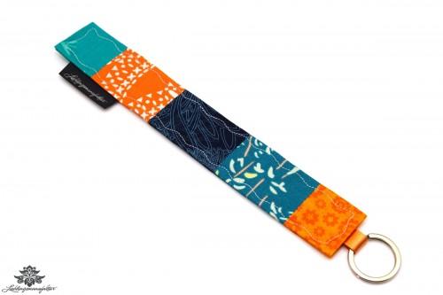 Schlüsselanhänger orange türkis