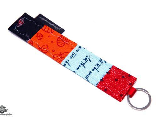 Schlüsselanhänger rot blau