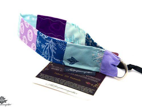 Schlüsselband Arm blau lila