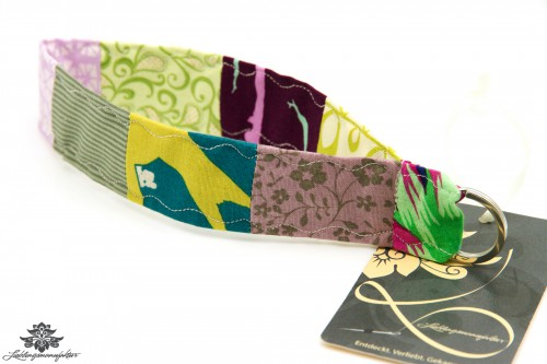 Schlüsselband kurz Handgelenk lila grün