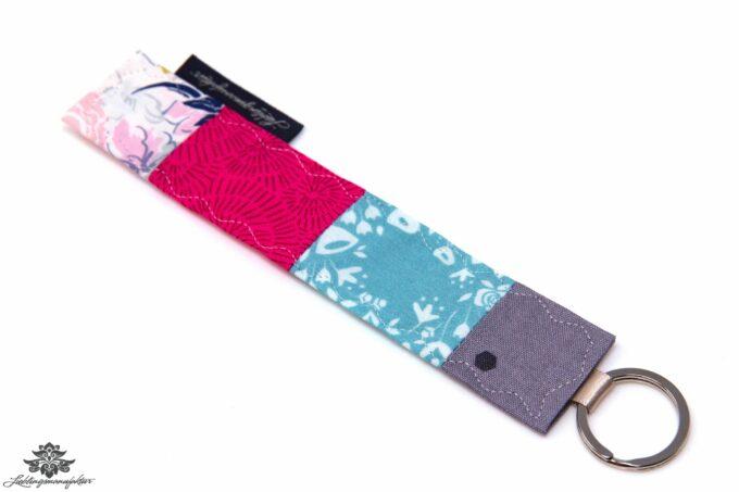 Schlüsselanhänger blau pink