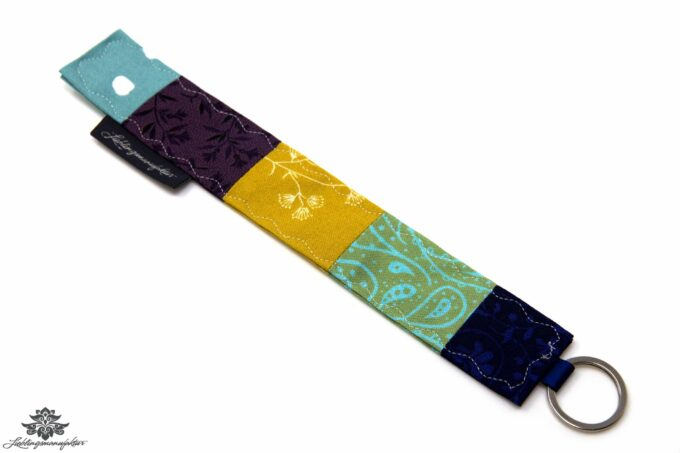 Schlüsselanhänger lila blau