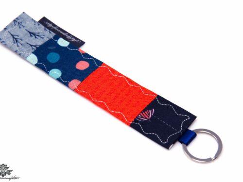 Schlüsselanhänger orange blau