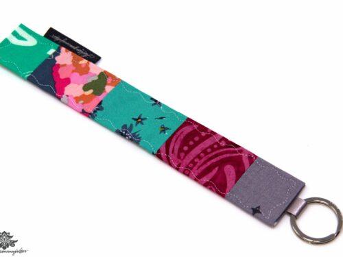Schlüsselanhänger pink türkis