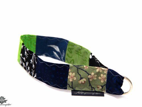 Schlüsselband Arm blau schwarz grün