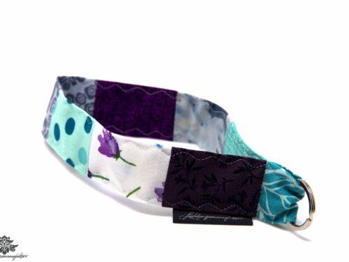 Schlüsselband kurz Handgelenk lila blau
