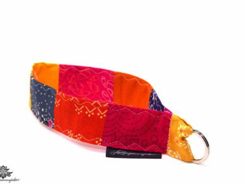 Schlüsselband orange pink