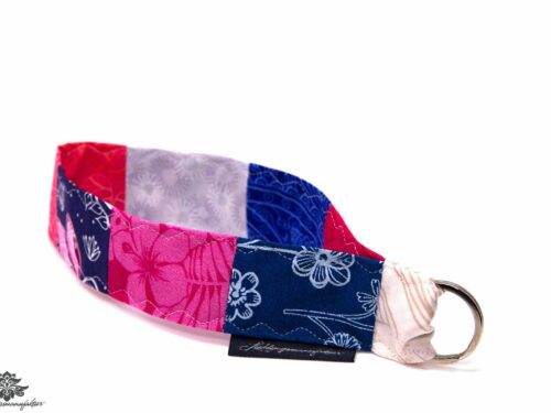 Schlüsselband pink dunkelblau