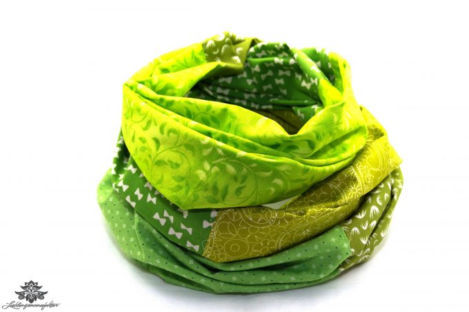 Tuch Patchwork grün