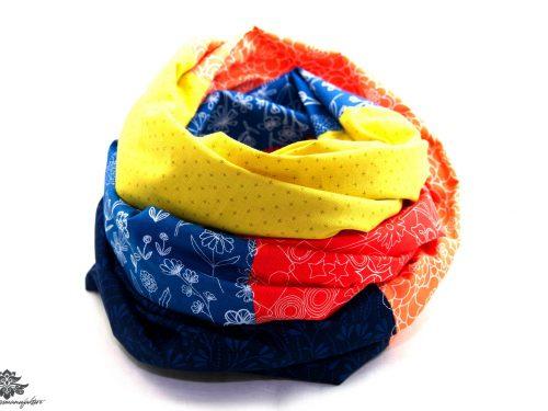 Tuch blau gelb
