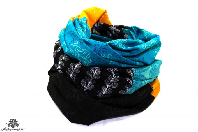 Tuch blau gelb schwarz