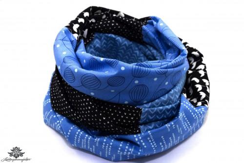 Tuch blau schwarz