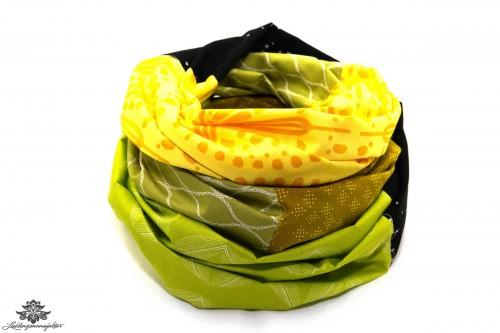 Tuch bunt gelb schwarz grün