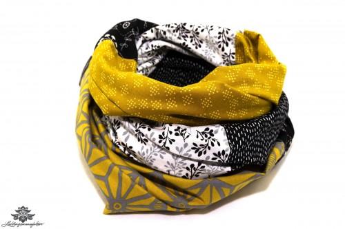 Tuch bunt schwarz gelb