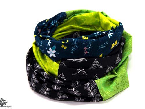 Tuch bunt schwarz grün