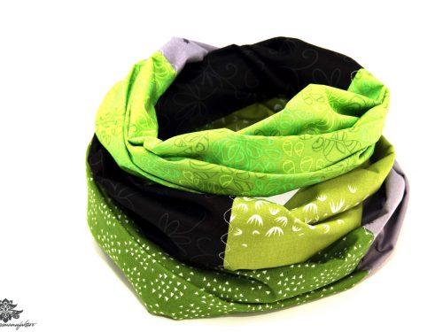 Tuch grün grau schwarz