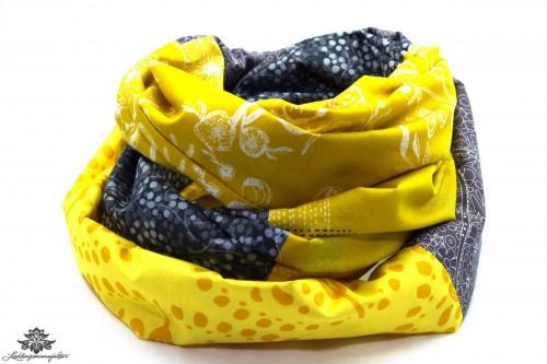 Tuch grau gelb
