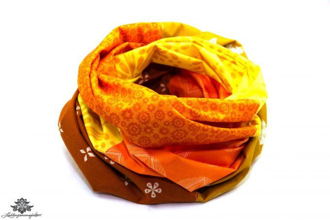 Tuch orange gelb