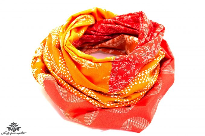 Tuch orange rot