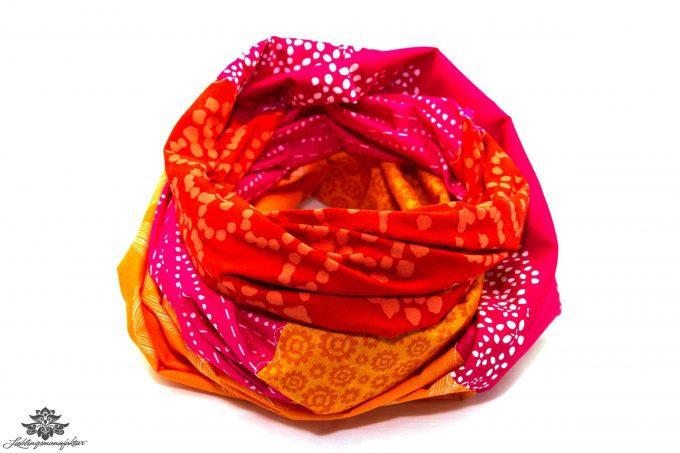 Tuch orange rot pink