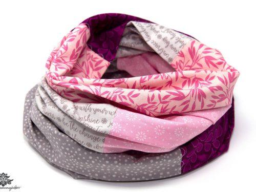 Tuch rosa grau