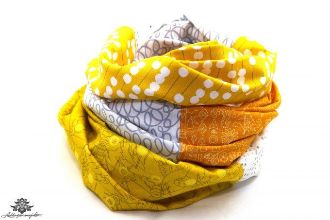 Tuch weiss gelb