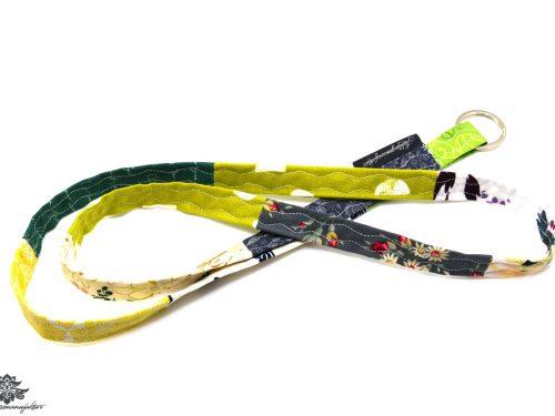 Buntes Schlüsselband grün grau