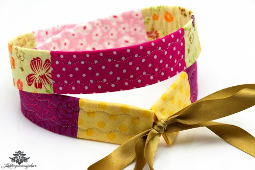 Gürtel Schleife gelb pink