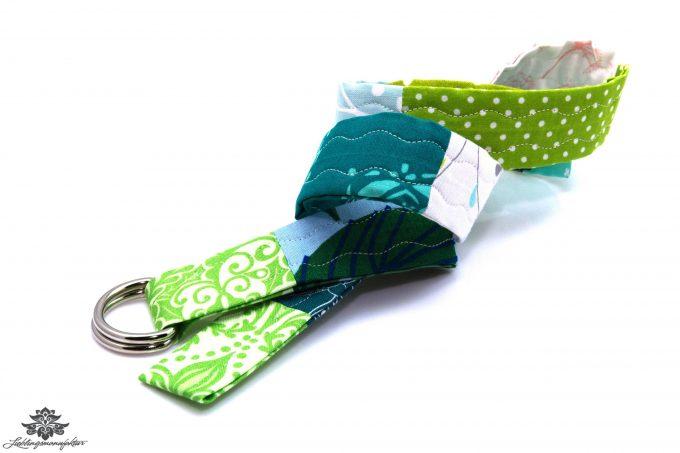 Gürtel Stoff blau grün