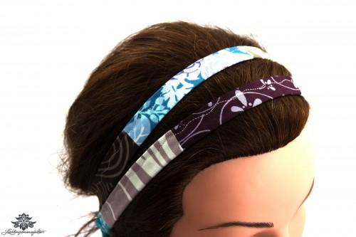 Haarband grau blau