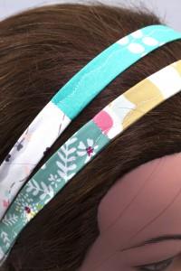 Haarband mint weiß grau