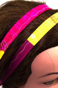 Haarband pink gelb