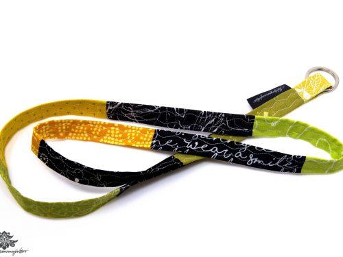 Patchwork Schlüsselband grün gelb