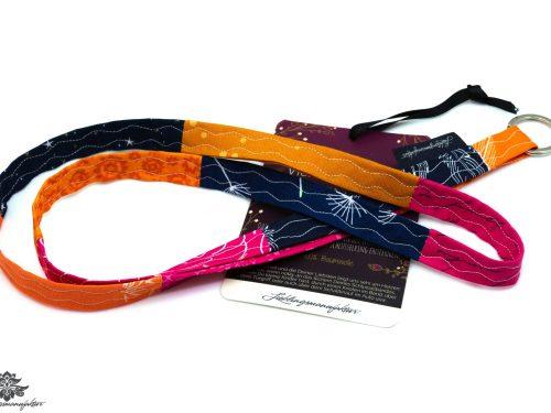 Schlüsselband orange pink dunkelblau