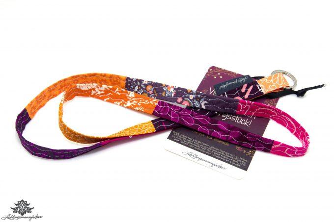 Schlüsselband orange pink lila