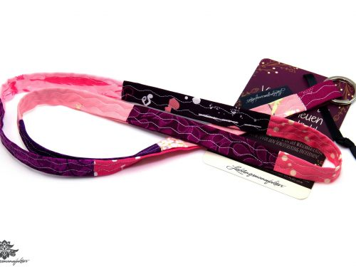 Schlüsselband schmal rosa