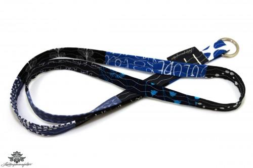 Schlüsselband blau schwarz