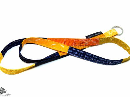 Schlüsselband blau orange
