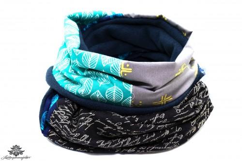 Bunter Schal grau blau