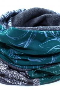 Bunter Schal grau grün