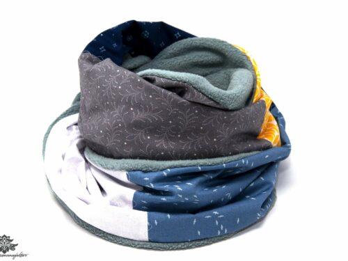 Bunter Schal hellblau blau