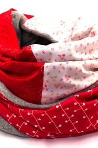 Damen Winter Loop rot