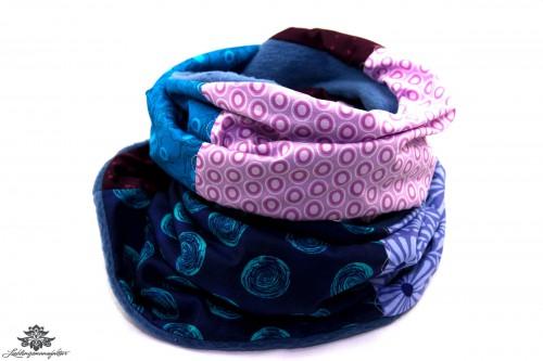 Schal dunkelblau lila