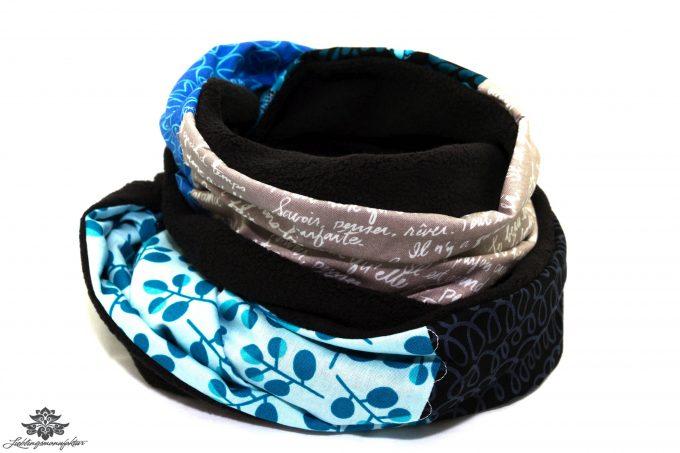 Schal dunkelblau schwarz