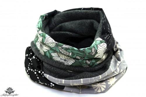 Schal grün schwarz grau