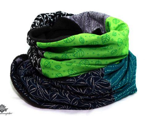 Schal grün schwarz