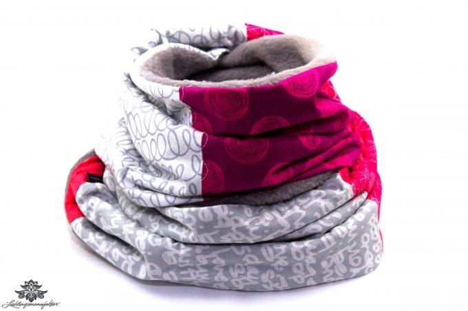 Schal grau pink